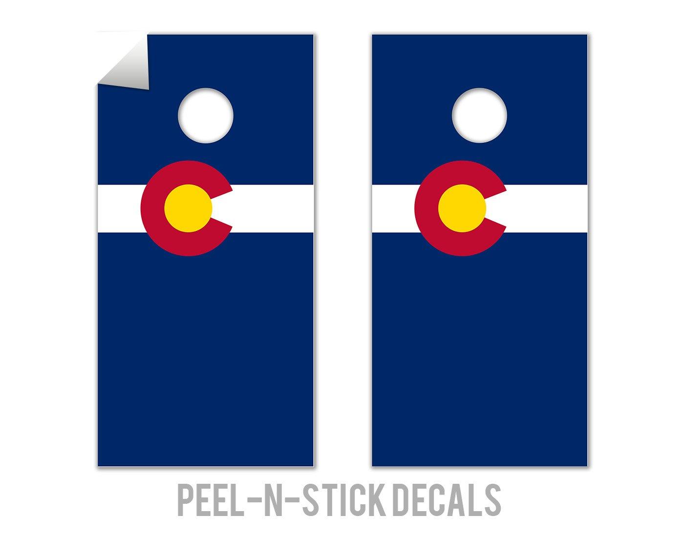 Colorado State Flag - Cornhole Crew - ACA Regulation Size Cornhole Board Decals