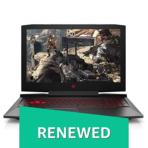 (Renewed) HP Omen 15-ce071tx 2017 15.6-inch Laptop (7th Gen Core i5/8GB/1.12TB/Windows 10 Home/Integrated Graphics), Shadow Black Laptops at amazon