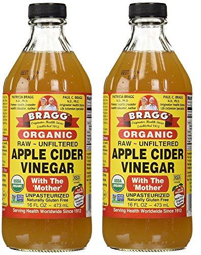 Bragg USDA Gluten Free Organic Raw Apple Cider Vinegar, 16 Ounce (2 Pack)