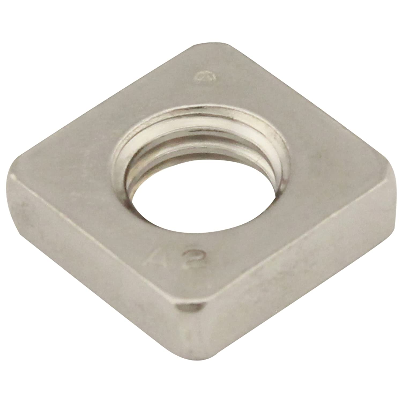 Vierkantmuttern (niedrige Form) - M5 - (25 Stü ck) - DIN 562 - Edelstahl A2 (V2A) - Einlegemutter - SC562 | SC-Normteile®