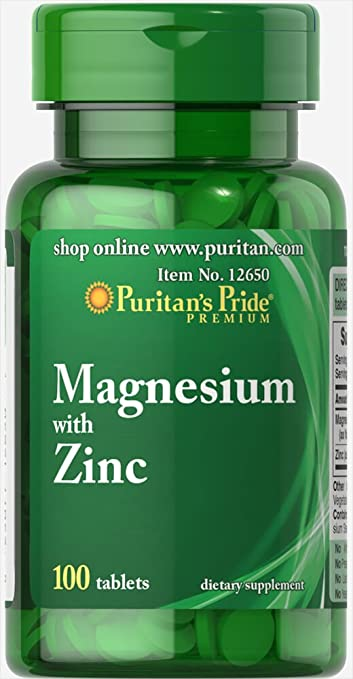 Amazon Com Puritan S Pride Magnesium With Zinc 100 Tablets Health