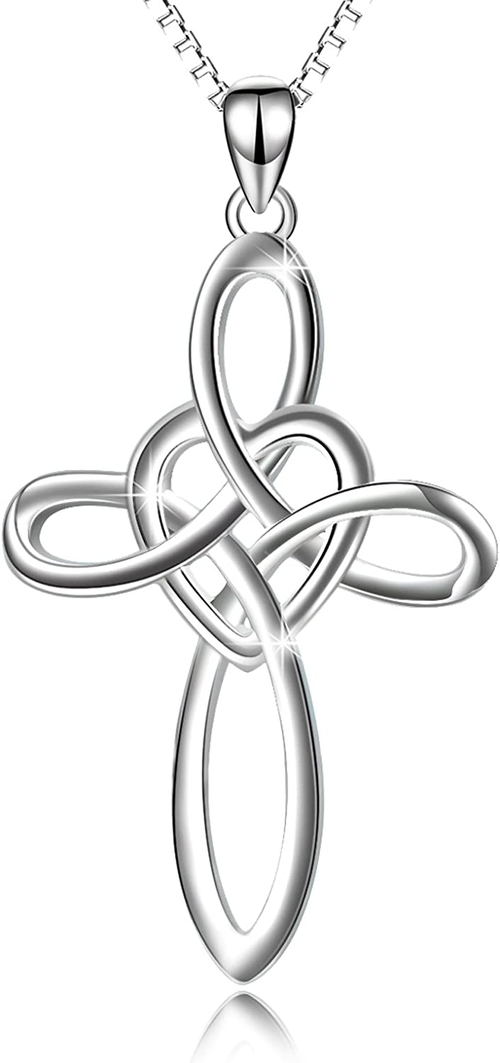 """Celtic Endless Knot Heart 925 Solid Sterling Silver Locket Necklace 16/"""" or 18/"""""""