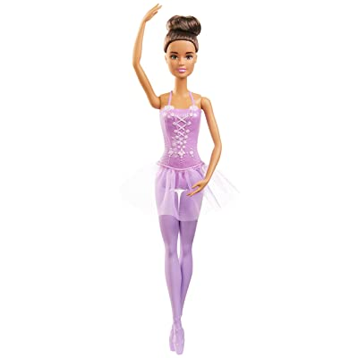 Barbie Ballerina Doll with Ballerina Outfit, Tutu, Sculpted Toe Shoes, Ballet-Posed Arms and Brunette Ballet Bun for Ages 3 Years Old and Up: Toys & Games