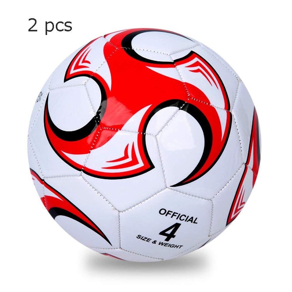 Liuxina Children's Football for Children Football Composite Soccer Ball Sizes 3 4 5 in Multiple Colors 2 Pcs Girls Boys Soccer Ball Football Toy Great Gift for Boys and Girls by Liuxina