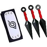 Amazon.com: Oiva Juego de 3 pcs armas Ninja Naruto Shuriken ...