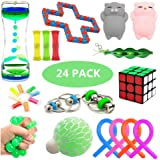 Sensory Fidget Toys Set, 24 Pack, Stress Relief and Anxiety Tools Bundle for Kids and Adults, Include Liquid Motion…