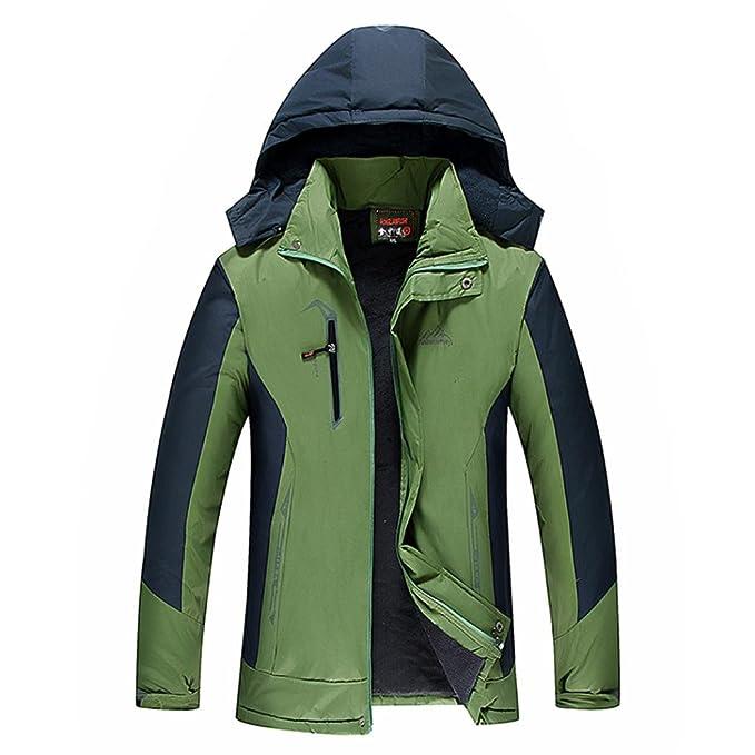 Odejoy Sport impermeabile all aria aperta Cappotto spessa in inverno caldo  invernale Jacket Giacca foderato e437053339b