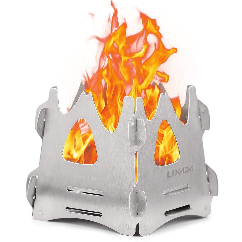 施設バルブ毛布Better Stars 焚き火台 ステンレス ファイアスタンド 簡単組み立て メッシュシート (収納袋&万能トング 1個付き)軽量 コンパクト 折りたたみ メッシュシート 薪をきれいに燃やせる アウトドア ソロキャンプにも