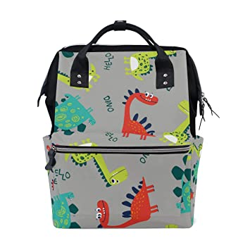 A Seed Backpack Baby Diaper Bag Cute Dinosaurs Colorful for Girls Women Tote Daypack Bookbag