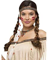 Fun World Bead and Feather Native Headband-