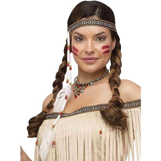 Amazon.com  Fun World Women s Bead   Feather Native Headband 1ebbb2a0968