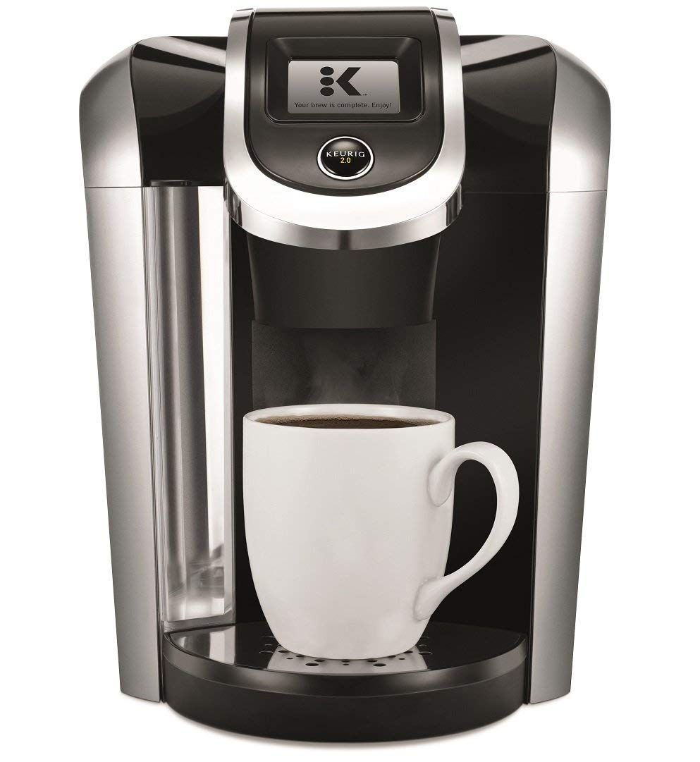 Keurig K475 Single Serve K-Cup Pod Coffee Maker with 12oz Brew Size, Strength Control, and temperature control, Programmable, Black (Renewed)