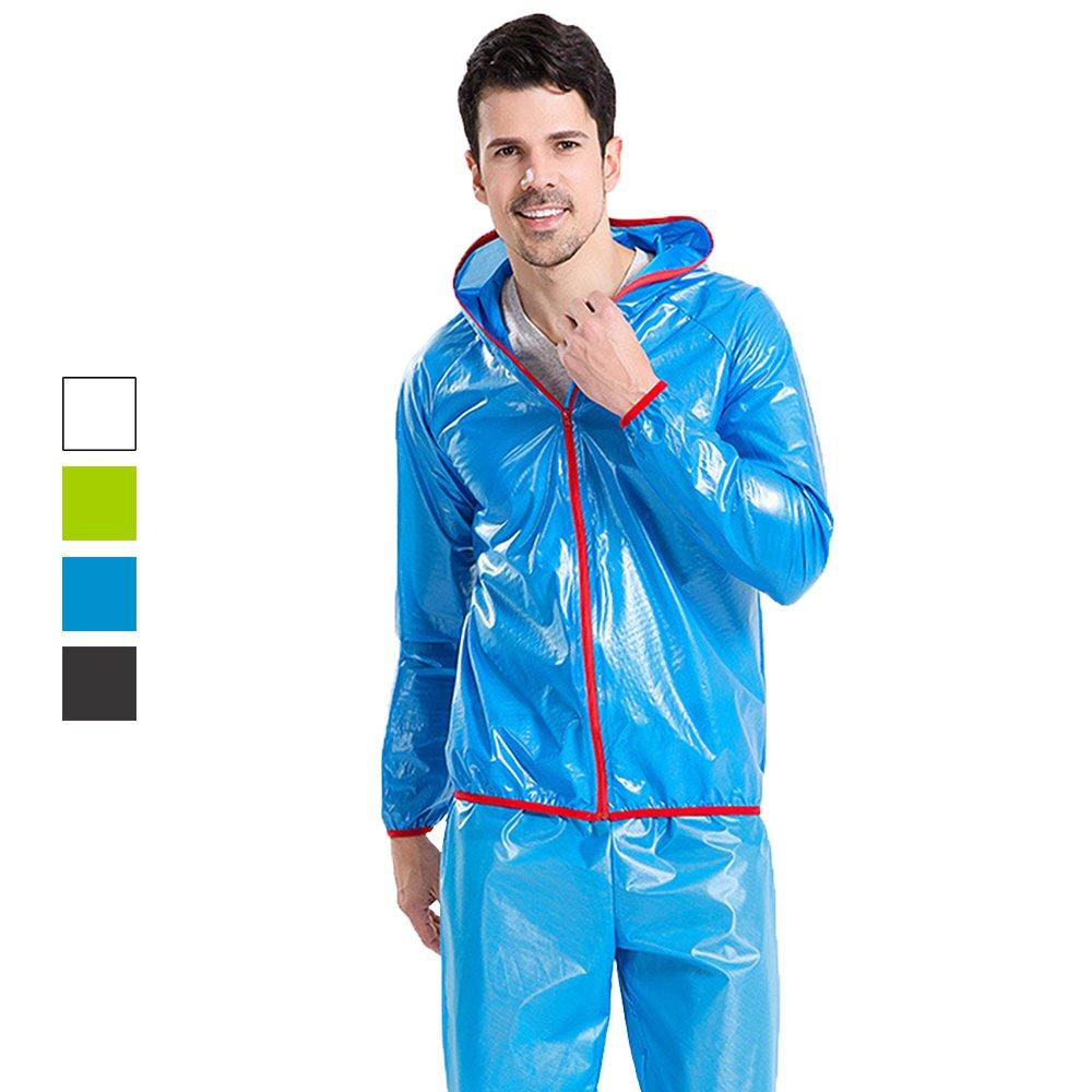 Miss Shanghai Mens Waterproof Windproof Rain Suit-Packable in Drawstring Bag