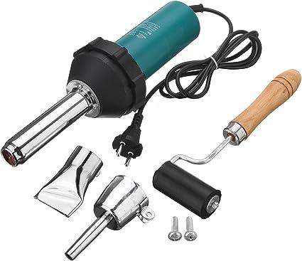 1080W Plastic Hot Air Welding Torch Welder Heat Gas Tools Kit Nozzle Rod/&Roll