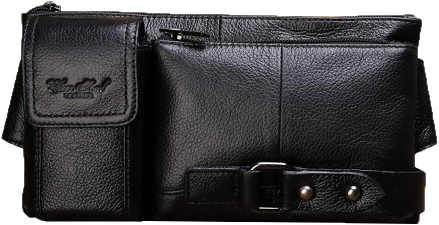 Genda 2Archer Pequeño Bolsa de hombro de piel auténtica bolso de la cinturón de Retro Fanny (18cm * 4cm * 22cm)