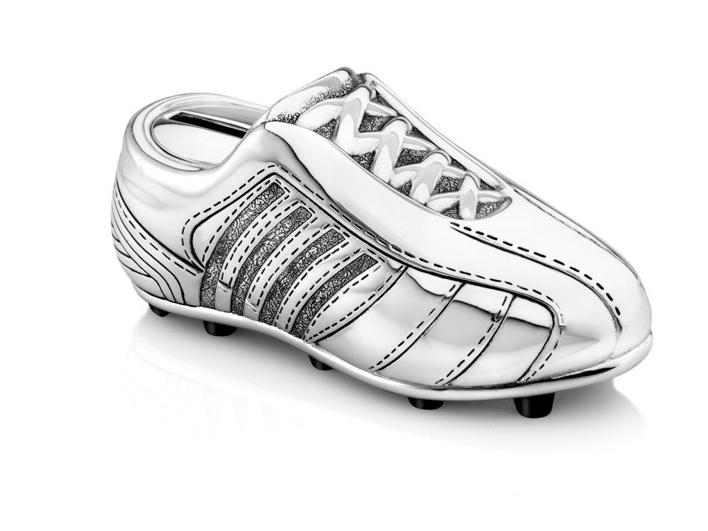 Zilverstad 6256261 Tirelire Chaussure de Football Mini Argent/é Laqu/é