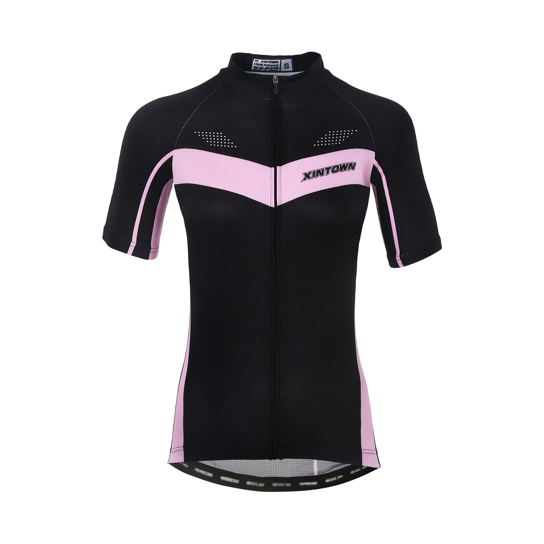 DuShow Women Cycling Jersey Short Sleeve Cycling Shirt Bicycle Bike Top Black 2(L) by DuShow