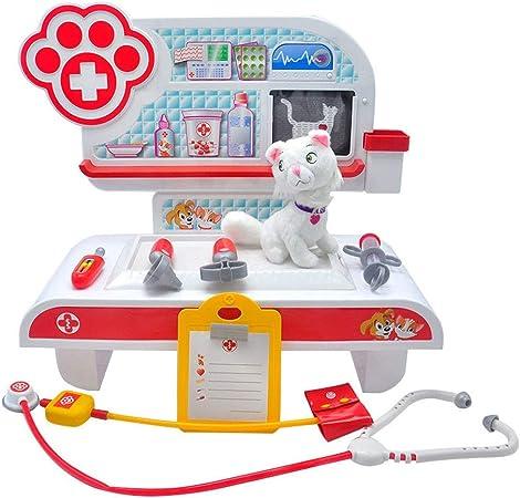 PN-Braes Kit de médicos para niños Juego de plástico for niños Casa Juguete for Mascotas