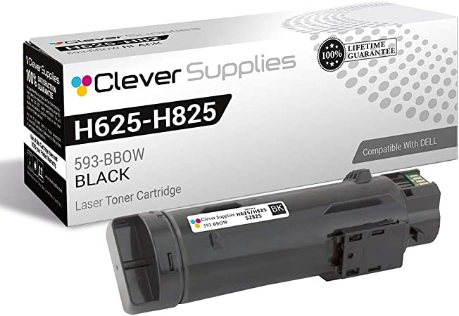 H625cdw H825cdw; Cyan Ink: CDS2825C MG Compatible Toner Cartridges Replacement for Dell 593-BBOX; Models: S2825cdn