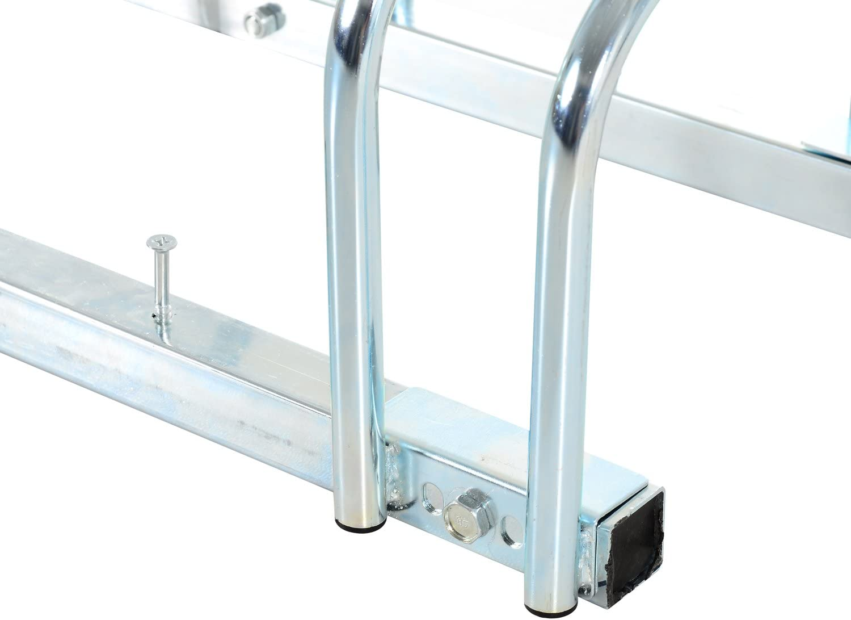 Homcom/-/Supporto da bicicletta per parcheggio supporto di bloccaggio per sistemazione bicicletta rack da pavimento o parete