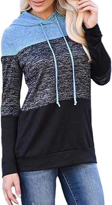 beautyjourney Sudadera con Capucha de Manga Larga para Mujer Suéter Capucha de Manga Larga Blusa túnica Camisa Holgada Deportiva: Amazon.es: Ropa y accesorios