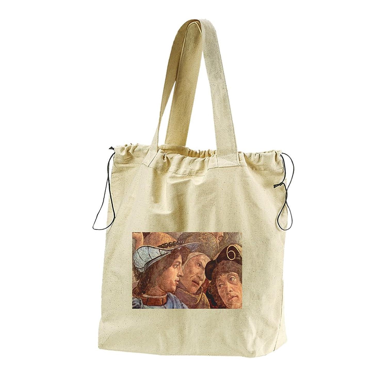 Sistine Chapel Levites #1 (Botticelli) Canvas Drawstring Beach Tote Bag