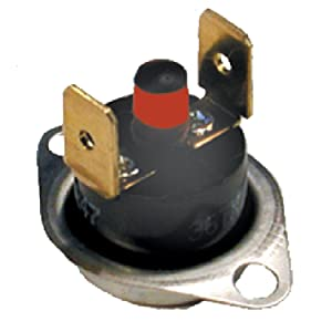 """SUPCO SRL250 Thermostat Manual Reset Rollout Limit Switch, 250 Degree F Cut Out Temperature, Vertical 1/4"""" Terminal"""