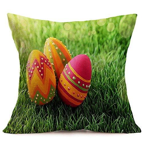Easter ❤️Jonerytime❤️Easter Sofa Bed Home Decoration Festival Pillow Case Cushion Cover (L) ()