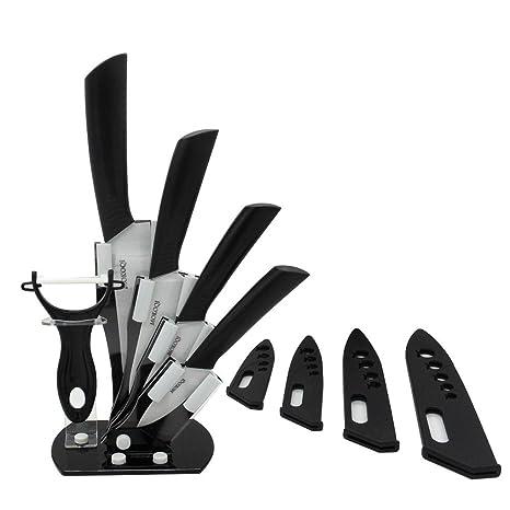 Compra MQKPOWER - Juego de cuchillos de cerámica, 6 piezas ...
