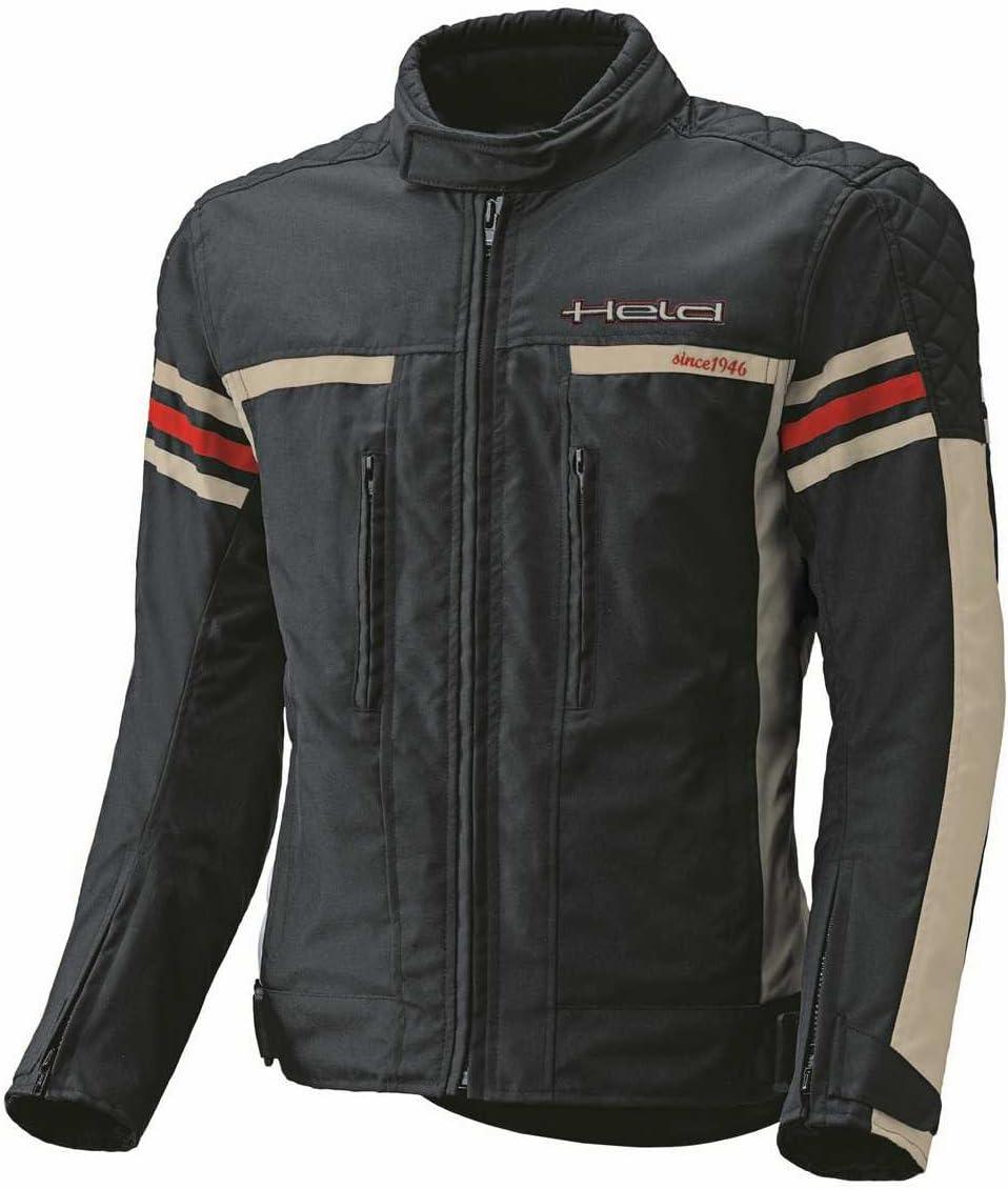 Farbe schwarz-Weiss Held Jakk sportliche Motorradtextiljacke Gr/ö/ße 3 XL