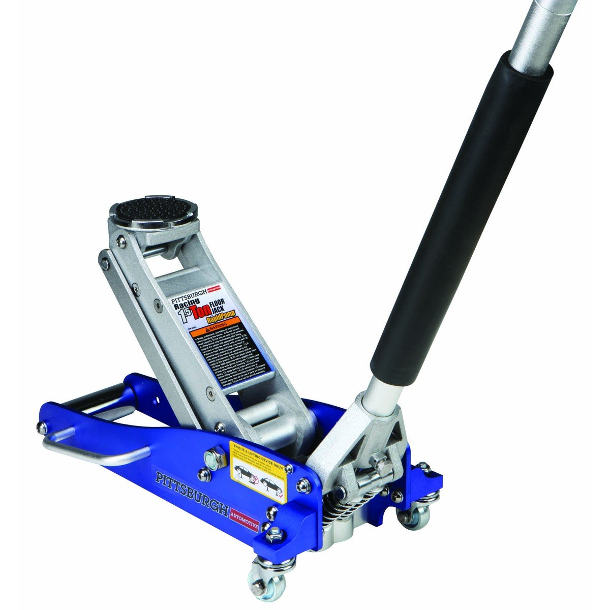 1.5 Ton Compact Aluminum Racing Jack with Rapid Pump by PITTSBURGH At The Neighborhood Corner Store