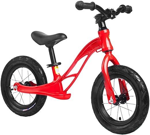 Qazxsw Bicicleta De Diapositivas para Niños 1-6 Año Niño Sin Pedal Bicicleta Niño Equilibrio Bicicleta Chica Deslizante Bicicleta Aleación De Magnesio,Rojo,12inches: Amazon.es: Hogar