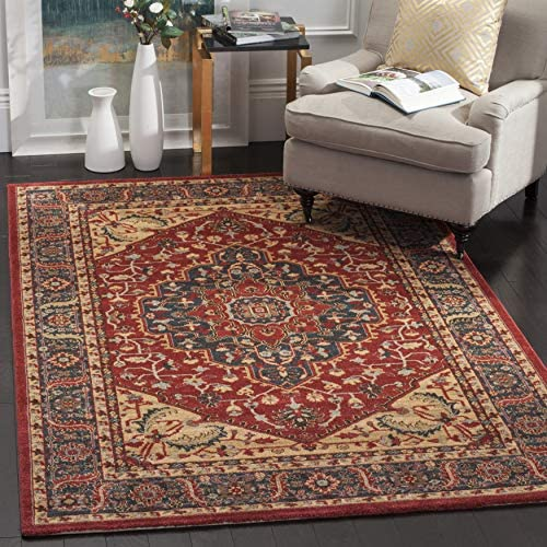 Safavieh Mahal Collection MAH621C Traditional Oriental Navy and Red Area Rug 10' x 14'