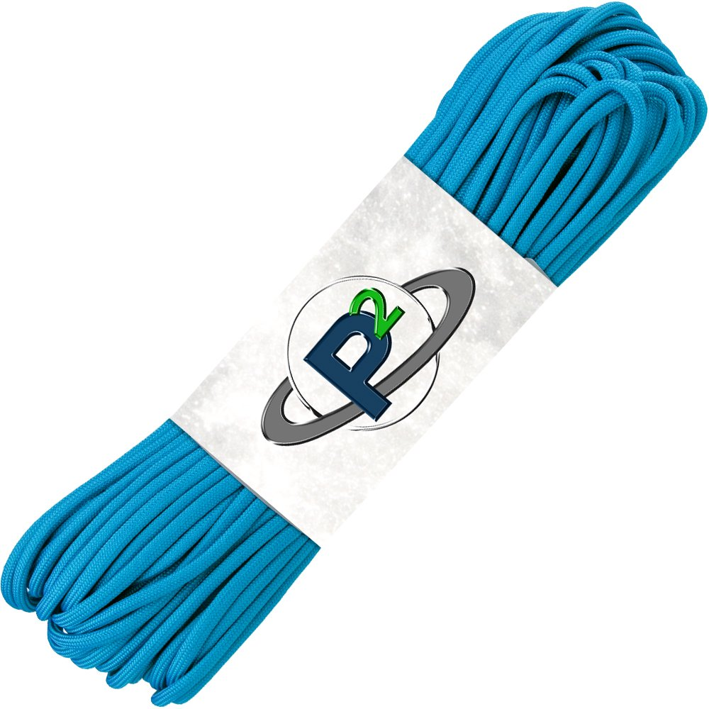 PARACORD PLANET Mil-Spec Commercial Grade 550lb Type III Nylon Paracord (Colonial Blue, 50 feet) by PARACORD PLANET