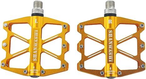 UPANBIKE 4 Pedales de Rodamiento Sellados para Bicicleta de ...