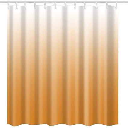 Modern Orange Shower Curtain FabricOrange Ombre Textured Natural Art Print Home Bath