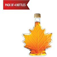 Pure, Organic Canadian Maple Syrup (4 X 100ml Bottles.) All-Natural, Grade-A Light Amber | Delicious Sweetness | No Preservatives, Gluten Free, Vegan Friendly