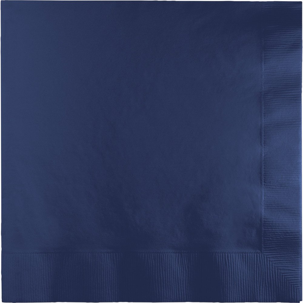 Creative Converting 500-Count Touch of Color 3-Ply Paper Lunch Napkins, Navy - 581137B