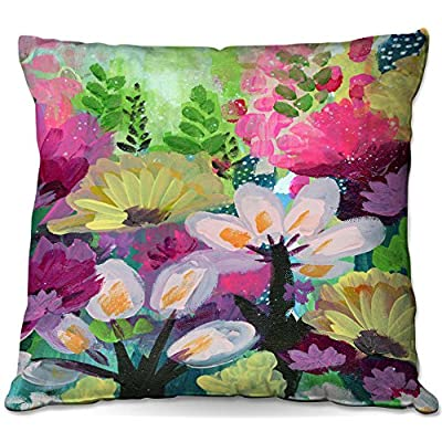 Outdoor Patio Couch Throw Pillows from DiaNoche Designs by Robin Mead - Jazmin 2 : Garden & Outdoor