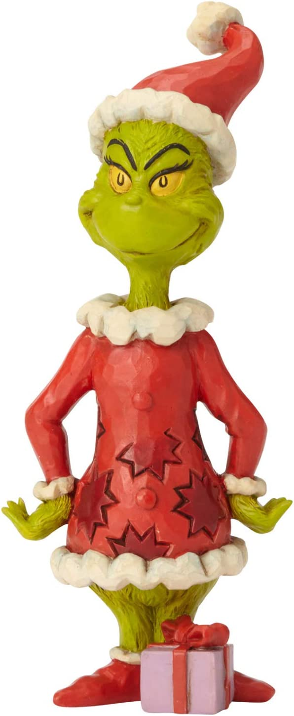 "Enesco Dr. Seuss The Grinch by Jim Shore Hands on Hips Figurine, 6.3"", Multicolor"