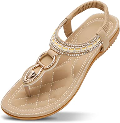 Women Lady Flat Cool Sandals Summer Beach Open Toe Leather Shoes Flip Flops