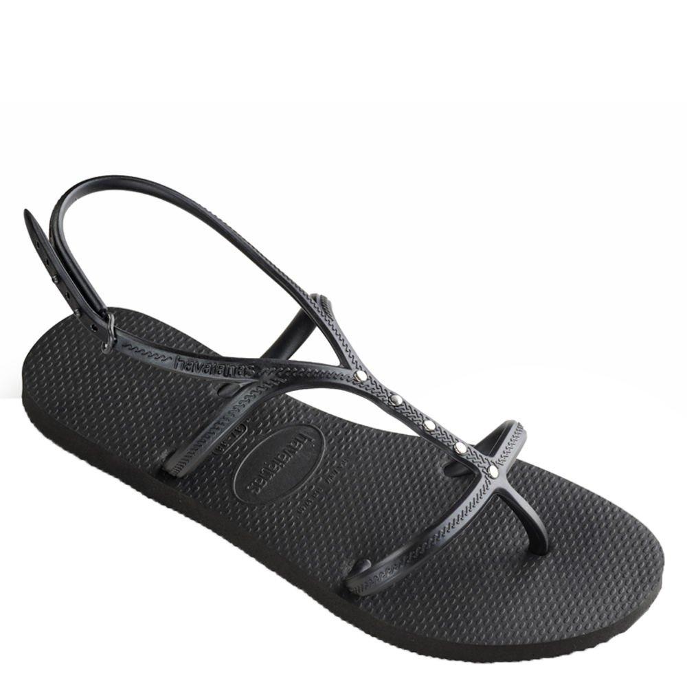 Havaianas Women's Allure Maxi Flip-Flops Black 39-40 M Bra