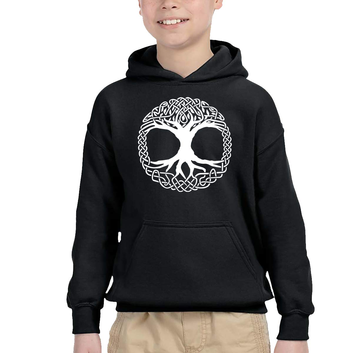 YTH/&123 Toddler Boys Girls Pullover Hoodie Fleece Celtic Tree of Life Hoody