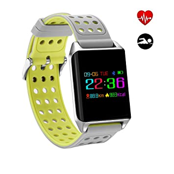 Relojes inteligentes Fitness Tracker,Oralbb Activity Tracker Monitor de ritmo cardíaco IP67 Waterproof Pulsera inteligente con ...