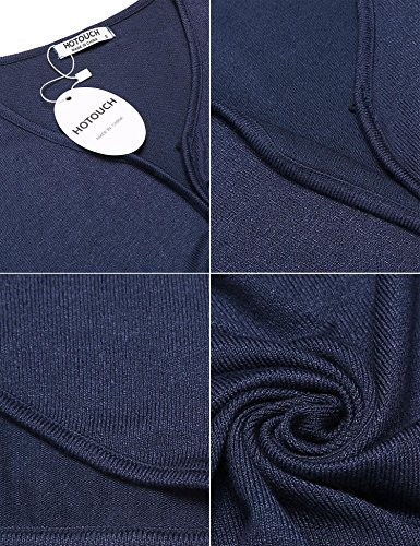 8727ffa282e2 HOTOUCH Women s Bolero Shrug Light Knit Cardigan Navy Blue XXL ...