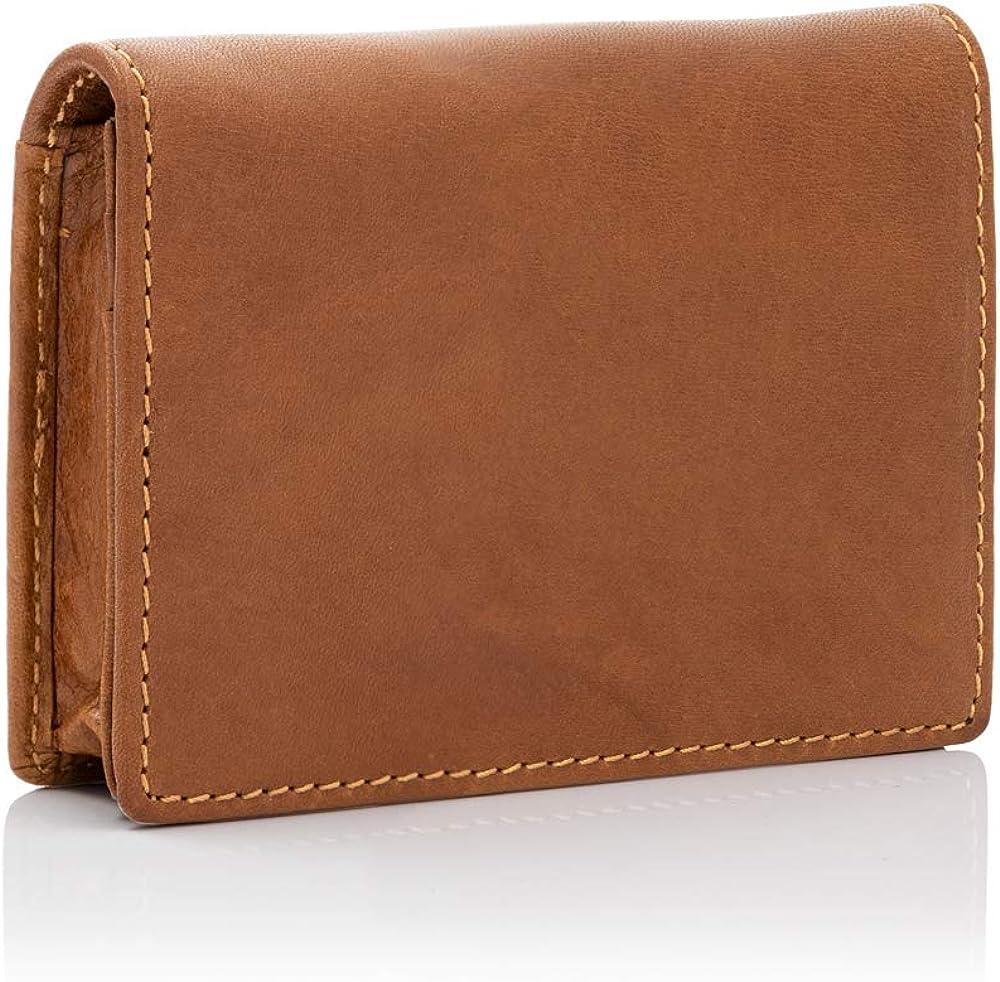 Smart Wallet Petit Porte-Feuille /à Cartes de Cr/édit bluzelle Porte Carte de Visite en Cuir V/éritable RFID Blocage Card Holder
