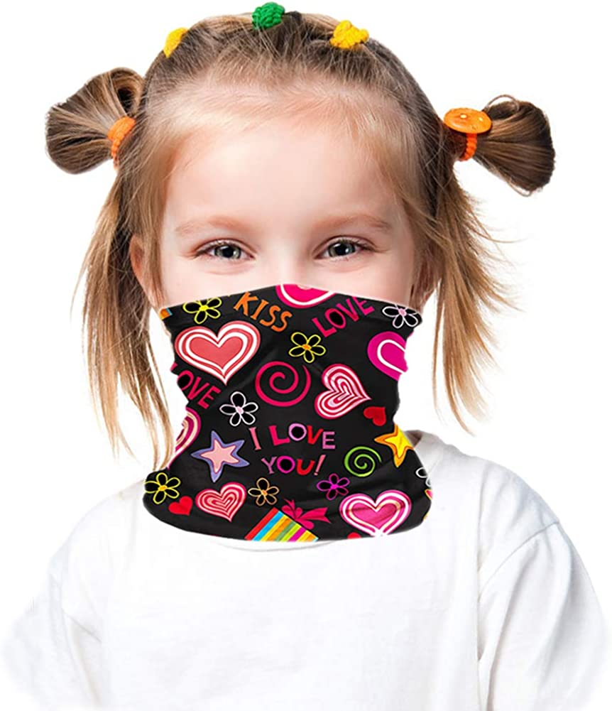 Kids Neck Gaiter for 6-14 Years Olds with Carbon Filter UV ProtectionFace Cover for Hot Summer Cycling Hiking SportOutdoor