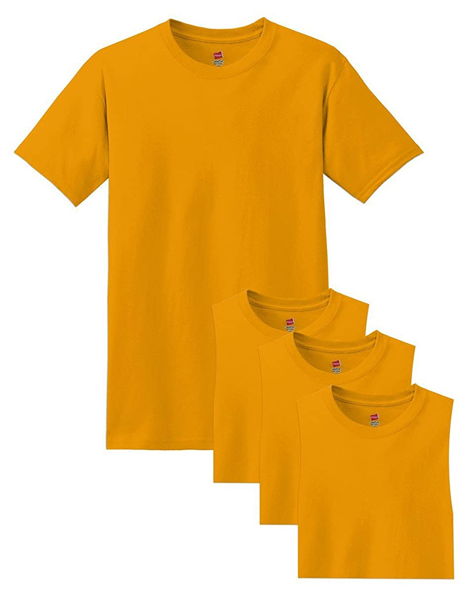 Hanes Ultimate Mens 4-Pack Comfort Blend Dyed Crew Neck T-Shirt-Colors May Vary