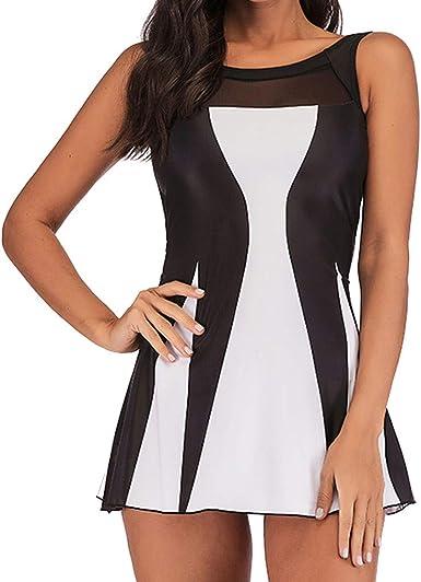 Donna Nero Maglia Costume Da Bagno Da Bagno Costume Da Bagno ONE PIECE TAGLIA 10 12 14 16