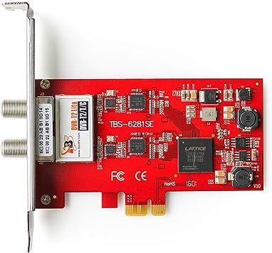 TBS®6281 DVB-T2/T/C doble sintonizador tarjeta PCIe con Control remoto y receptor IR con soporte completo de HDTV, ideal para ver canales HD y SD en tu PC: Amazon.es: Electrónica